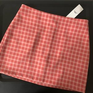 NWT Urban Outfitters Pink Plaid Mini Skirt